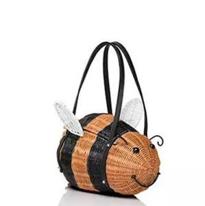 DOWN THE RABBIT HOLE KSNY Wicker Honeybee Bag